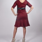 Look2B - NA14WD003 TRIBAL PRINT PU FIT AND FLARE DRESS $149.99