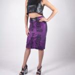 Look4A - NA14PU005 (TOP) PU CROP TOP $49.99 | NA14WS006 (SKIRT) TRIDAL PRINTED FRONT SLIT SKIRT $69.99