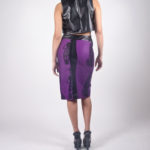 Look4B - NA14PU005 (TOP) PU CROP TOP $49.99 | NA14WS006 (SKIRT) TRIDAL PRINTED FRONT SLIT SKIRT $69.99