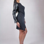 Look6C - NA14KD008 (DRESS) SCUBA DRESS W/ PU SLEEVE $199.99