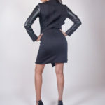 Look6D - NA14KD008 (DRESS) SCUBA DRESS W/ PU SLEEVE $199.99
