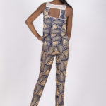 Fourth look: J0016 ($44.99) Nude cotton top with tribal printed back paired with J0015 ($109.99) Cotton Tribal pants with mesh side insets.